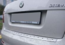 Накладка на задний бампер, Alufrost, с загибом, нерж. сталь, а/м 2009-2013