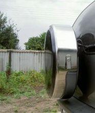 Чехол (колпак) запасного колеса, R-Tun, обод нерж. сталь