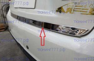 Накладка на дверь багажника (кант) с надписью ASX, нерж. сталь
