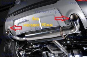 Выхлопная система Milltek, для TD4 и SD4, без 2х насадок, для Dynamic 4WD