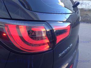 Фонари задние, LED светодиодные, стиль BMW Black к-кт