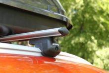 Багажник на крышу со встроеными рейлингами, Atlant, аэродинамические дуги