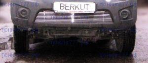 Решетка в бампер, Berkut, нерж. сталь, а/м 2006-2009
