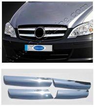 Накладки на решетку радиатора, Omsaline, нерж. сталь, для Vito 2010-2014