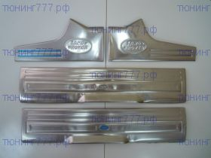 Накладки на пороги, cnt4x4, на пластик, нерж. сталь