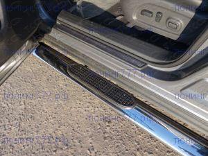 Подножки боковые, ТСС, овал с проступями, нерж. сталь ф 120х60мм