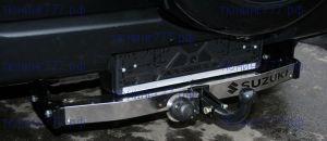 Фаркоп, Souz-96, накладка из нерж.стали, крюк на двух болтах, тяга 1.5т