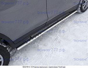 Подножки боковые, ТСС, овал с точками, нерж. сталь ф 75х42мм