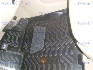Коврики в салон, Aileron, полиуретановые черные, с 3D бортиками, на 2 ряда