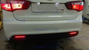 Катафоты заднего бампера со встроеными LED светодиодами, а/м до 04.2015