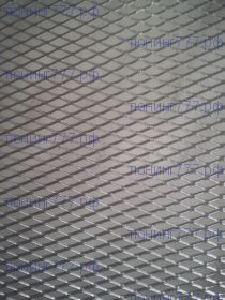 Сетка в бампер, Ромб, алюминий, 100 х 40см
