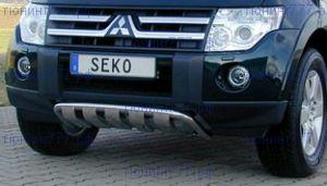 Защита переднего бампера Seko, низкая, нерж. сталь ф 50мм