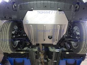 Защита картера и кпп, ТСС, алюминий 4мм., V - 3.0л