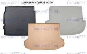 Коврик (поддон) в багажник, Unideс, полиуретановый с бортиками, 3 цвета