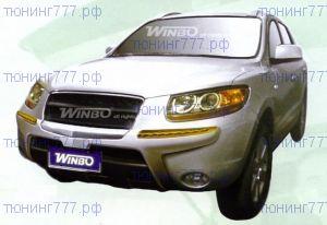 Накладка на передний бампер, Winbo, со встроеными повторителями, пластик