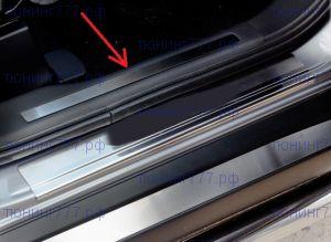Накладки на пластик в проемах передних дверей, Souz-96, нерж. сталь 2шт