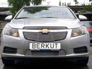 Решетка в бампер, Berkut, нерж. сталь, а/м 2008-2012