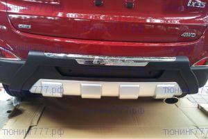 Диффузор заднего бампера, cnt4x4, с хром надписью