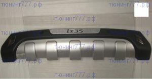 Диффузор заднего бампера, cnt4x4, пластик с хром вставкой