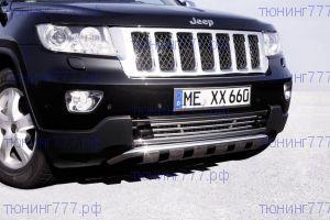 Защита переднего бампера Seko, с пластинами, нерж. сталь ф 40мм