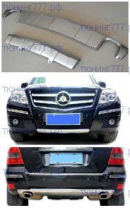 Накладки на бампера, cnt4x4, серебро, для 2008-2011