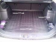 Коврик (поддон) в багажник с органайзером, Unideс, полиуретановый черный с бортиками