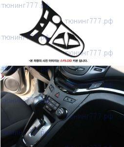 "Накладки на центральную панель + руль, пленка ""под карбон"""