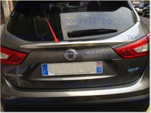 Накладка на крышку багажника, cnt4x4, над номером, хром