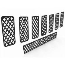 Вставки в решетку радиатора и бампер, нерж. сталь черного цвета, к-кт, а/м 2011-2013