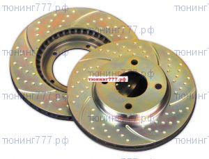 Тормозные диски EBC, передние, серия TurboGroove, к-кт для 2.0л