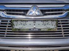 Рамка номерного знака, ТСС, c логотипом, нерж. сталь, пара