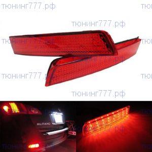 Катафоты заднего бампера со встроеными LED светодиодами, к-кт
