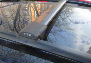 Багажник на рейлинги, Fico, черные аэродинамические дуги