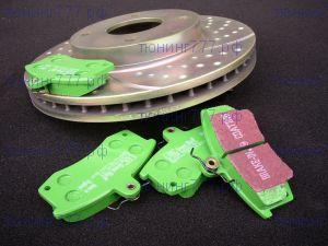 Тормозные колодки EBC, серия Greenstuff, передние, к-кт на V - 1.6 и 1.6Т
