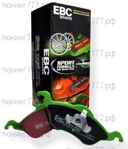 Тормозные колодки EBC, серия Greenstuff, задний к-кт на V - 1.6 и 1.6Т