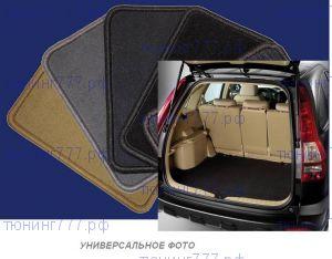 Коврик в багажник с органайзером, Unidec, велюровый