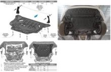Защита картера и кпп, АВС-Дизайн, композитная 8мм, V - все