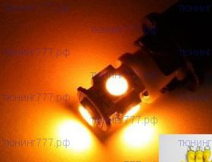 Лампа светодиодная, 5 LED, в передние габариты, пара