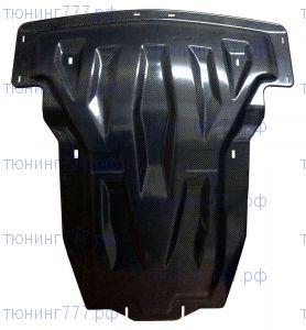 Защита картера и кпп, АВС-Дизайн, карбон 10мм., для GL500 с мотором V8