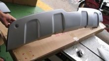 Диффузор заднего бампера, cnt4x4, серебро, а/м 2008-2011
