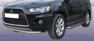 Защита переднего бампера, SL, нерж. сталь ф 57мм