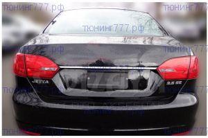 Накладка над номером на крышку багажника, Omsaline, нерж. сталь, а/м 2011-2014