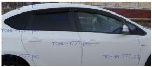 Ветровики 4х окон Cobra, темно-дымчатые, на седан с 2012-