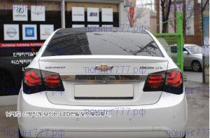 Задняя LED оптика, BMW F10 стиль, тёмная, к-кт