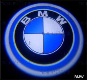 """LED проекция логотипа Bmw, """"приветственный свет"""", к-кт на 2 двери"""