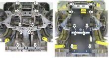 Защита картера и Мкпп, Motodor, сталь 3мм., V - 2,5 и 3.0TD, 4wd