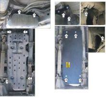 Защита топливного бака, Motodor, сталь 3мм., V - 2,5TD и 3.0TD с Мкпп, на 4wd