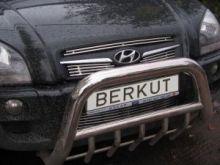 Решетка в бампер, Berkut, нерж. сталь, а/м 2004-2009