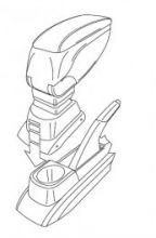 Адаптер к подлокотнику Armster 1й серии