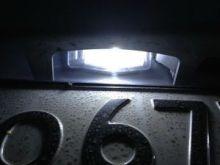Лампа светодиодная, 5 LED, для подсветки номерного знака, пара